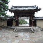 法隆寺 西大門 西里・世界遺産 法隆寺地域の仏教建造物