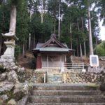 柴 八王神社(鏡石)・浜松市天竜区熊