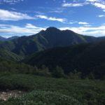 塩見岳(3052m) 本谷山(2658m) 三伏山(2615m)・鳥倉